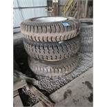 (LOT) ALPHA 12.00/24 EXTRA CROSSBAR/VOT TIRES WITH RIMS AND (13) MISECLLANEOUS