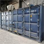 "238"" X 95"" X 100"" X 1094 CU. FT. CONEX STORAGE CONTAINER WITH STANDARD DOOR AND SIDE ENTRANCE DOORS"