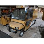 "INGERSOLL RAND / CLUBCAR CARRYALL 6 ELECTRIC ENCLOSED REAR MAINTENANCE CART; S/N J0531-528158, 48"" X"