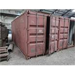 8' WIDE X 20' LONG CHARLESTON MARINE CONEX STORAGE CONTAINER WITH CONTENTS LONG HANDLED TOOLS,