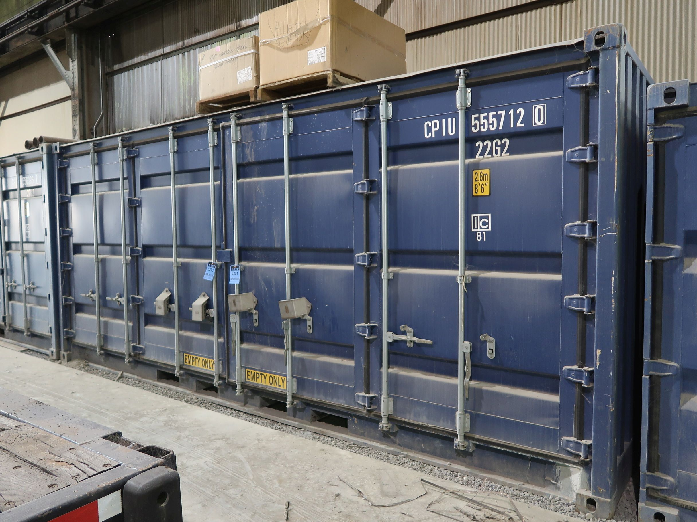 "Lot 233 - 238"" X 95"" X 100"" X 1094 CU. FT. CONEX STORAGE CONTAINER WITH STANDARD DOOR AND SIDE ENTRANCE DOORS"