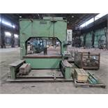 """STEINER MODEL RIP20080 HYDRAULIC PLATE STRAIGHTENING PRESS; S/N 558, 59"""" FOR BED, 20"""" STROKE, WITH"""