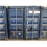 "96"" X 118"" X 102"" X 563 CU. FT. CONEX STORAGE CONTAINER WITH STANDARD DOOR"