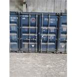 8' X 8' CONTAINER PROVIDER INTL CONEX STORAGE CONATINER WITH STANDARD END DOOR, 563 CU. FT.