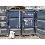 7' WIDE X 8' LONG CONTAINER PROVIDER INTL CONEX STORAGE CONTAINERS, 351 CU. FT., WITH CONTENTS