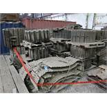 (LOT) ASSORTED EQUIPMENT (DOZER / EXCAVATOR) TRACKS, TRACK PADS, BUCKET TEETH AND OTHER