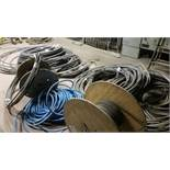 (LOT) CONTENTS BALANCE OF ROOM; APPROX. 18-SPOOLS OF HD WIRE, PALLETS OF HD WIRE, ELECTRICAL PANEL