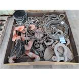 (LOT) BEAM CLAMPS, LIFTING CHAINS, SHACKLES