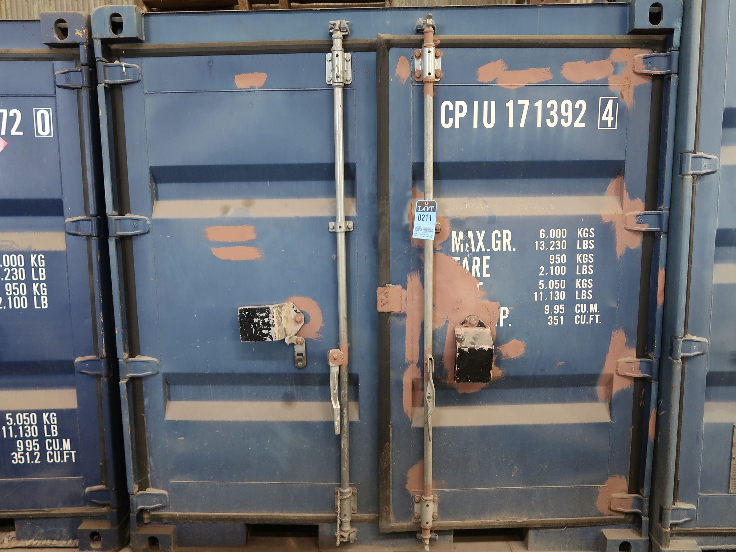 """Lot 211 - 86"""" X 96"""" X 89"""" X 351 CU. FT. CONEX STORAGE CONTAINER WITH STANDARD DOOR"""