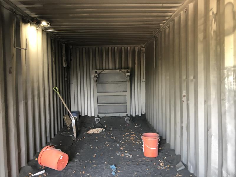 Lot 43 - Land & Sea Container converted to sand blast room, 20'