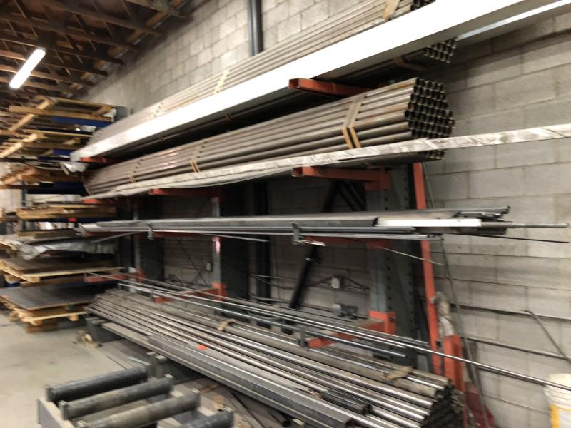 Lot 21 - 16' Heavy duty stock rack, 4 tier (Rack Only)