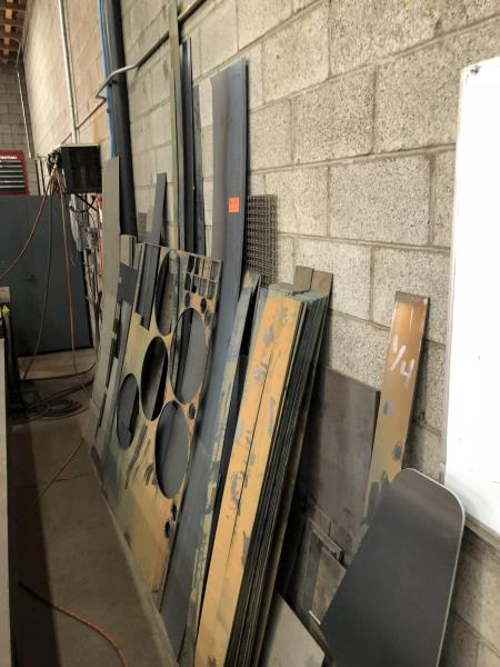 Lot 15 - Lot of Assorted scrap & stock sheet metal