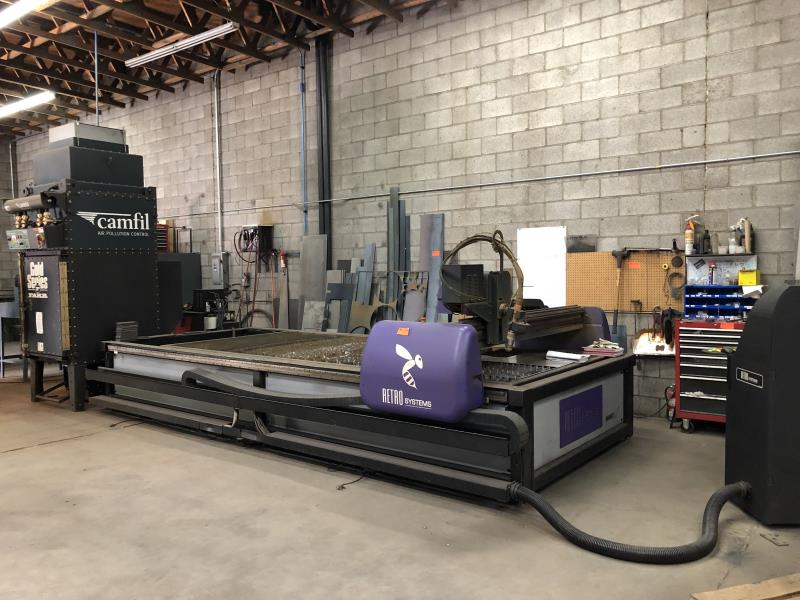 Lot 11 - Plasma Cutting System & Air Filtration by Retro Systems / Hornet HD Plasma Cutting System