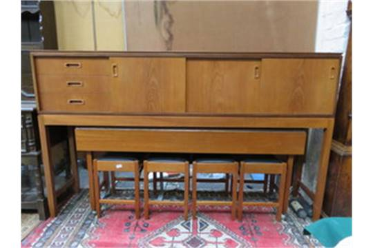 Times Furnishing Teak Long John Sideboard On Raised Supports With
