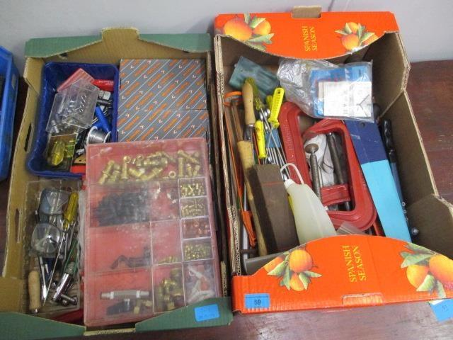 Lot 59 - A quantity of mixed tools and accessories to include a Moore and Wright engineering spirit level,
