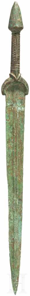Vollgriffschwert mit konischem Knauf, Luristan, spätes 2. Jtsd. v. Chr.Bronzevollgriffschwert mit - Image 2 of 2
