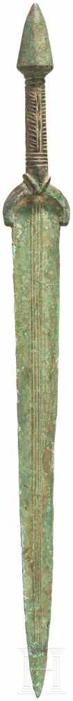 Vollgriffschwert mit konischem Knauf, Luristan, spätes 2. Jtsd. v. Chr.Bronzevollgriffschwert mit