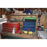 Tool Bench w/ Shaper Blades and Tools