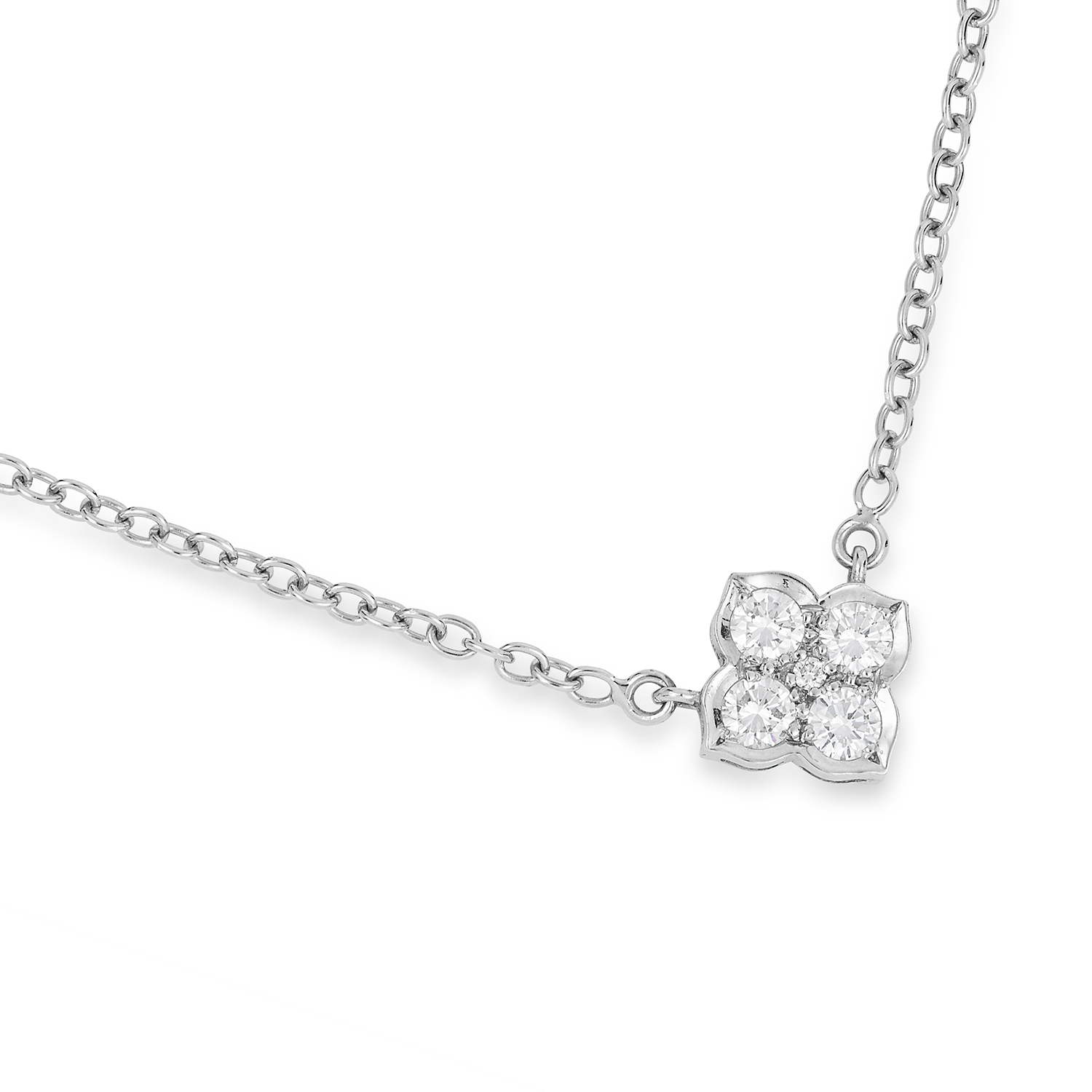Los 343 - DIAMOND HINDU PENDANT, CARTIER set with five round cut diamonds, 4.7g.