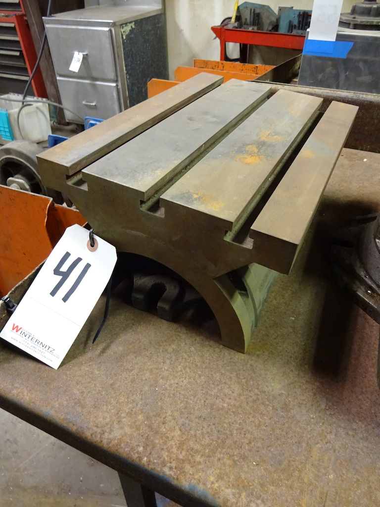 Lot 41 - 10 in. x 15 in. T-Slot Adjustable Plate