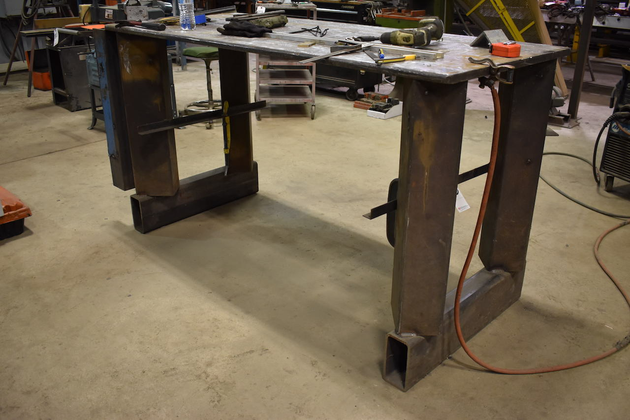 "Lot 603 - 32"" x 76"" Heavy Duty Steel Welding Table"