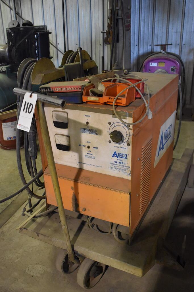 Lot 110 - Airco Model CV-300 II Aircomatic Welding Machine, S/N RG901301, with Bernard Model 2375 Boom with