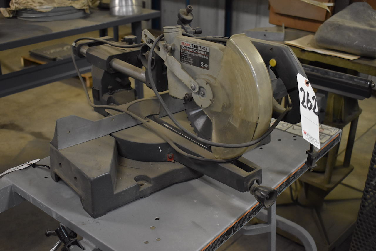 Lot 262 - Sears Craftsman 8-1/4 in. Contractor Series Slide Compound Miter Saw, 2 HP