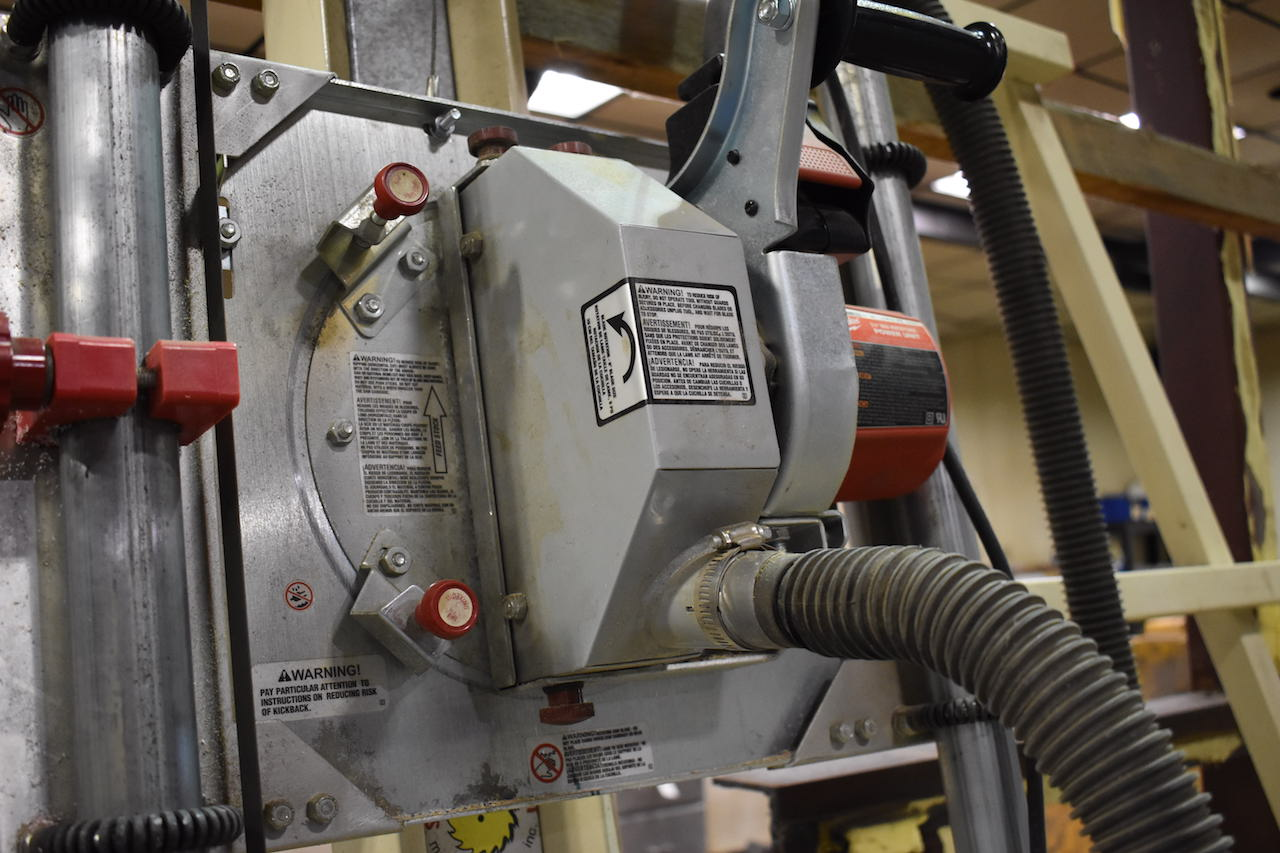 Lot 83 - Safety Speed Cut 60 in. x 120 in. Vertical Panel Saw, with Milwaukee 3-1/4 in. Max. HP Power Unit (