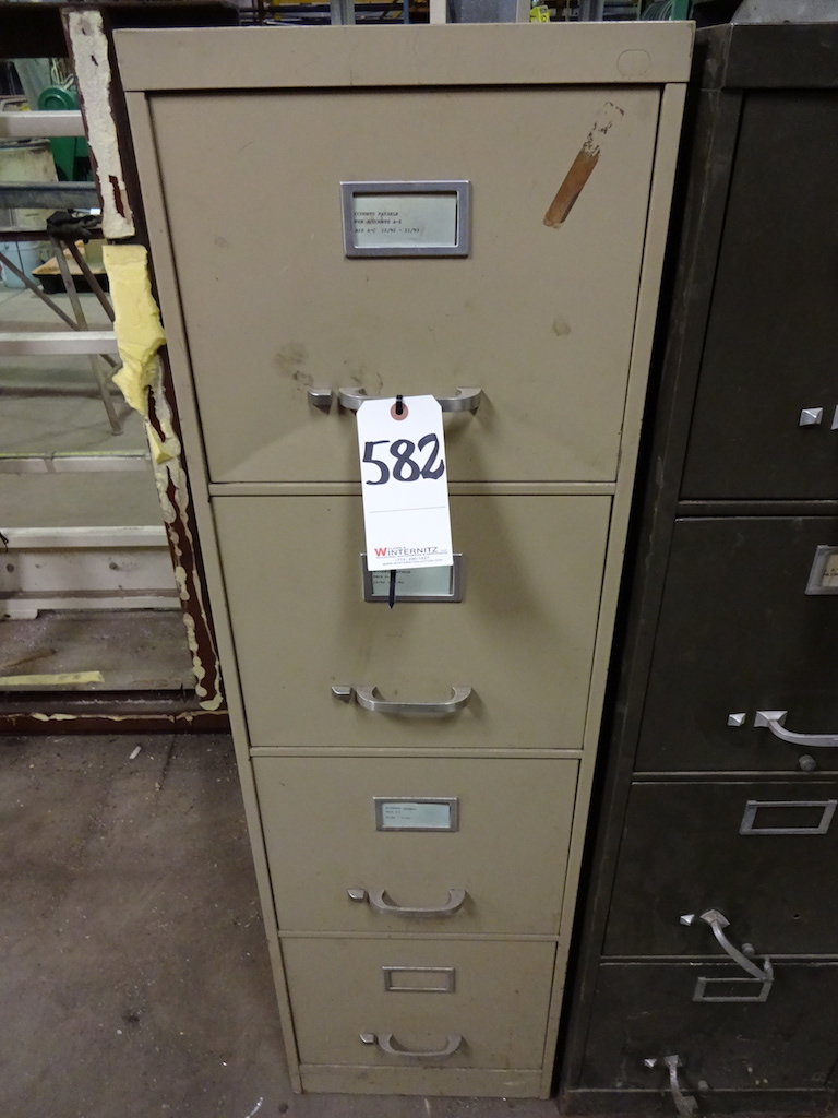 Lot 582 - LOT: 4-Drawer File Cabinet with Contents