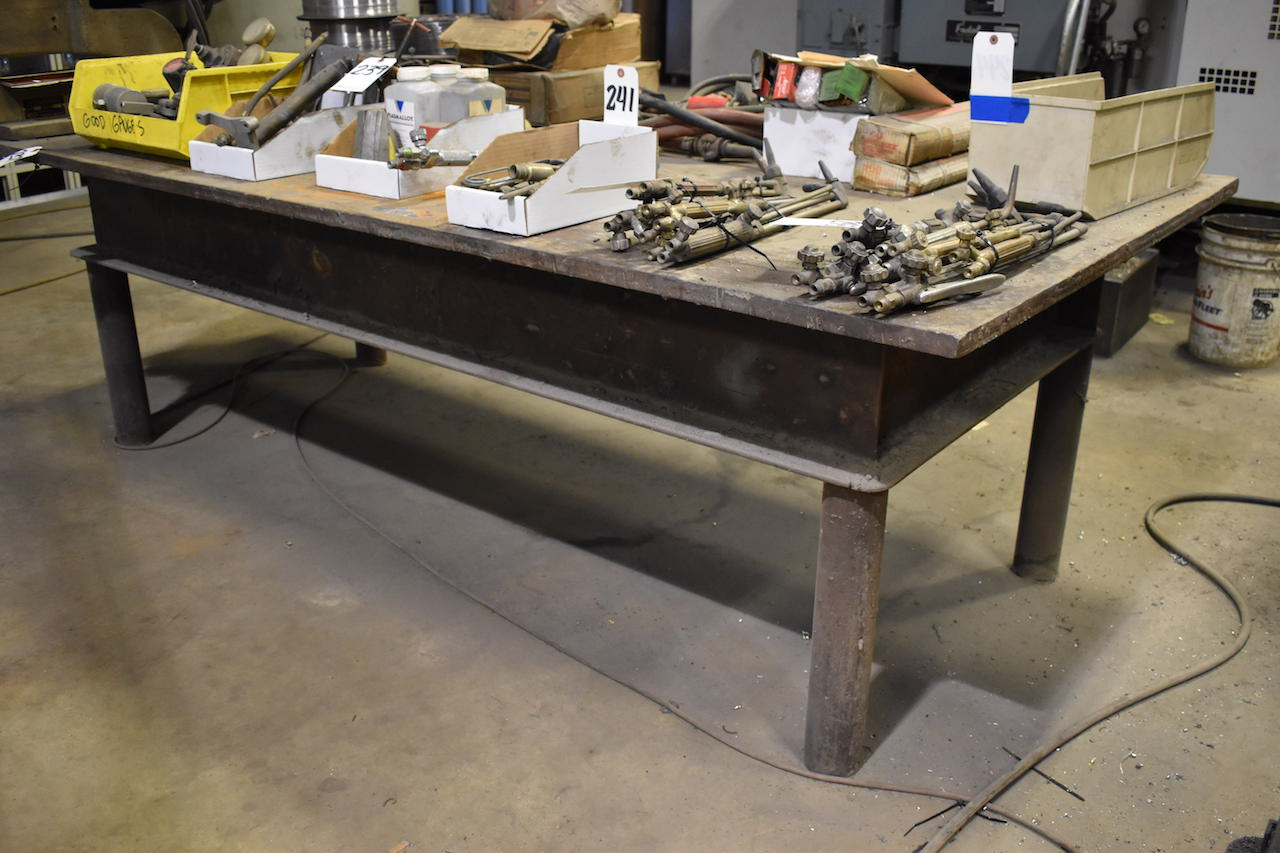 Lot 237 - 48 in. x 96 in. Heavy Duty Steel Welding Table