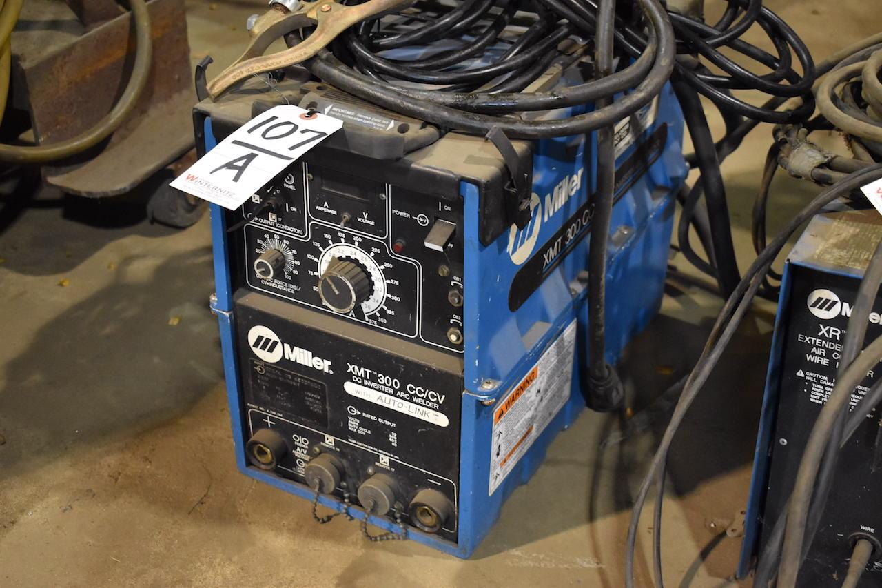 Lot 107A - Miller Model XMT300 CC/CV DC Inverter Arc Welder, S/N KC339832