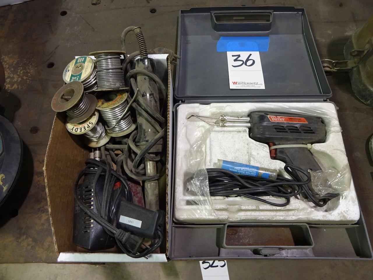 Lot 36 - LOT: Soldering Guns & Solder