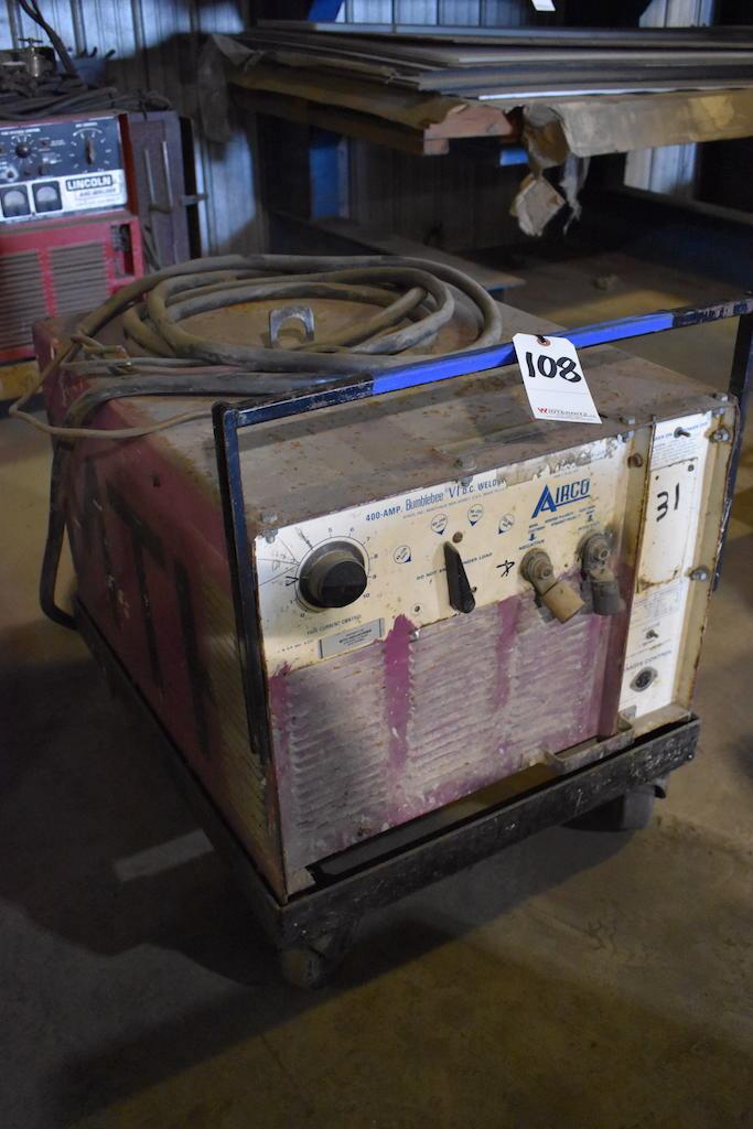 Lot 108 - Airco 400 Amp Bumblebee IV DC Welder 108A