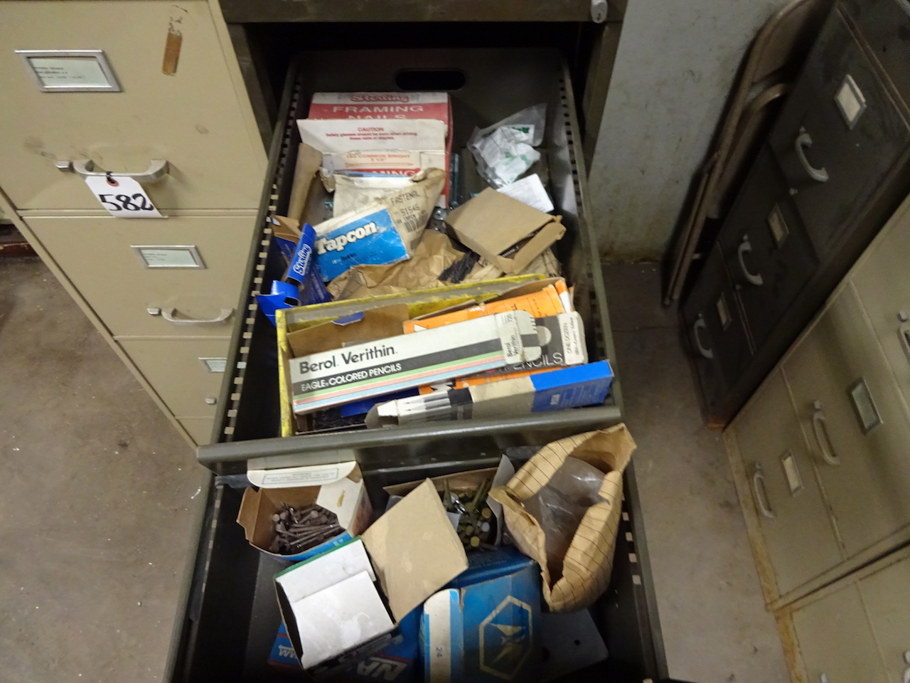 Lot 583 - LOT: 4-Drawer File Cabinet with Contents
