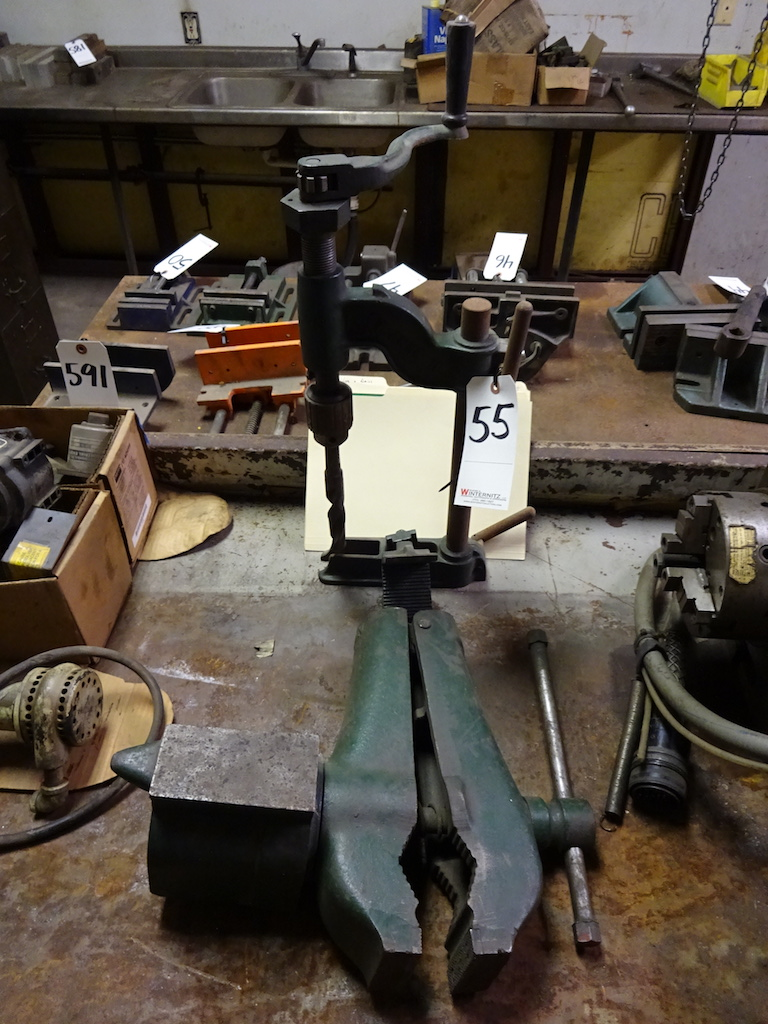 Lot 55 - LOT: Hand Drill & Cole Tool No. 11 Clamp