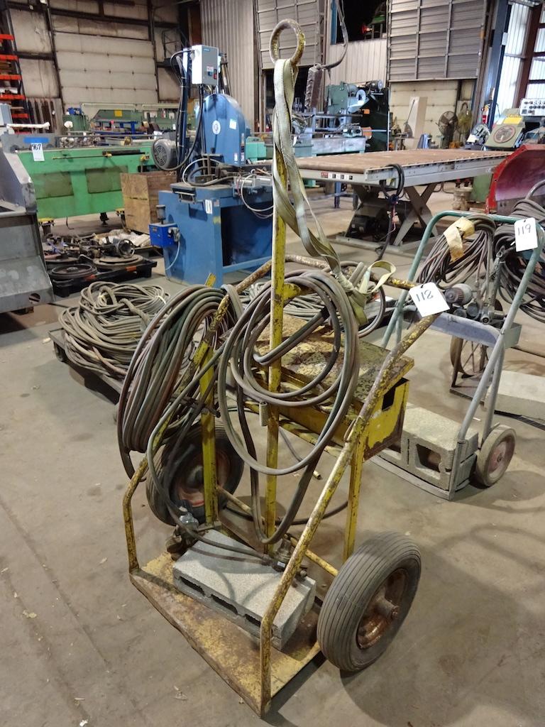 Lot 118 - Welding Cart with Hose & Gauges