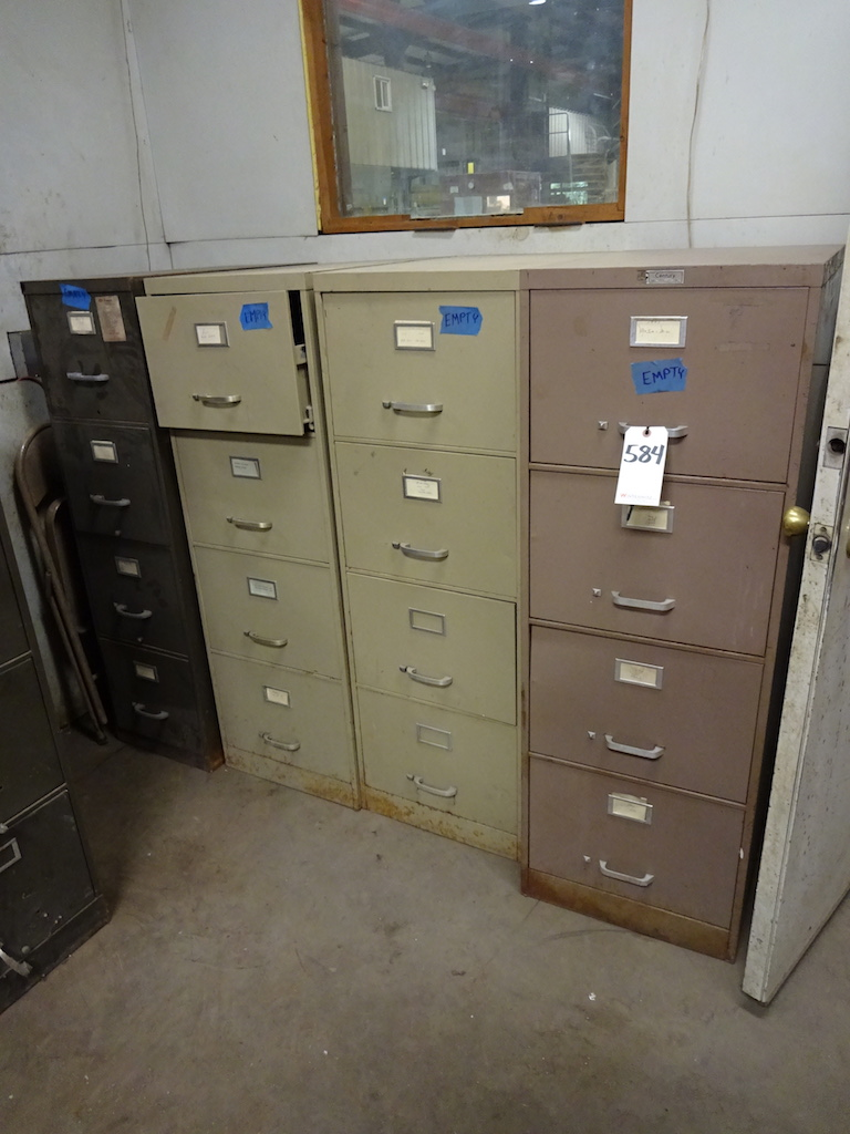 Lot 584 - LOT: (5) 4-Drawer File Cabinets