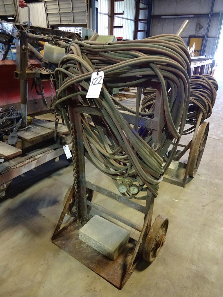 Lot 122 - Welding Cart with Hose & Gauges