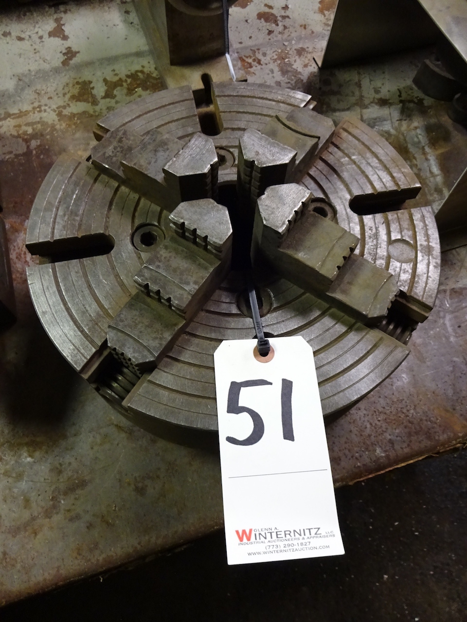 Lot 51 - 12 in. 4-Jaw Chuck