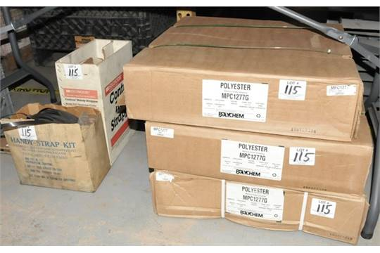 Lot-(3) Boxes of Polychem MPC1277G Polyester Strapping with (3