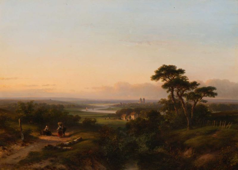 Lot 22 - Lodewijk Johannes Kleijn (Loosduinen 1817 - The Hague 1897) A private chat on a summer afternoon in