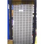 2 x grey steel wall mounted bin storage rack, 455mm(W) x 1820mm(H) - Second-hand (GS19)