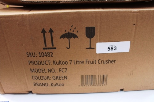 Lot 583 - 1 x Kukoo 7ltr fruit crusher, model FC7 - New in box (ES13)