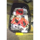 2 x boxes of assorted plumbing parts including taps, stainless steel single bowl sink - Second-