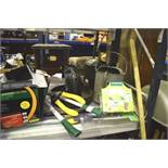 A selection of garden hand tools including loppers, sieves, galvanises watering can etc. - Second-