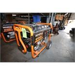 Generac GP5500 Portable Gas Power Generator Set, Model 0059396, S/N 7263956A, Running Watts 5500,