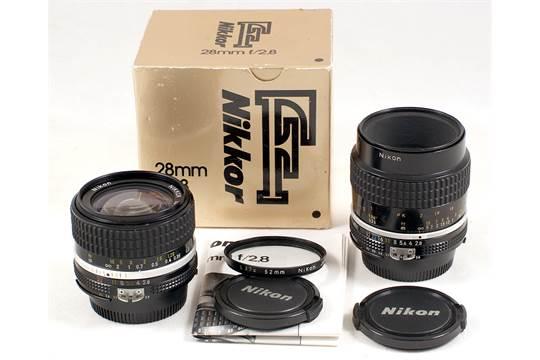 Nikkor 28mm f2 8 Ai-s #815972 (condition 4E) in makers box