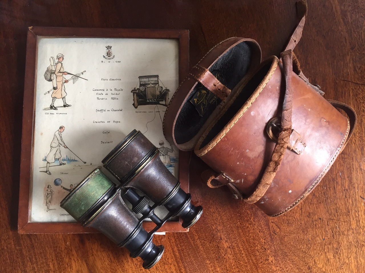 Lot 17 - [Titanic] Items belonging to Sir Cosmo Edmund Duff-Gordon, including a cased pair of Elliott