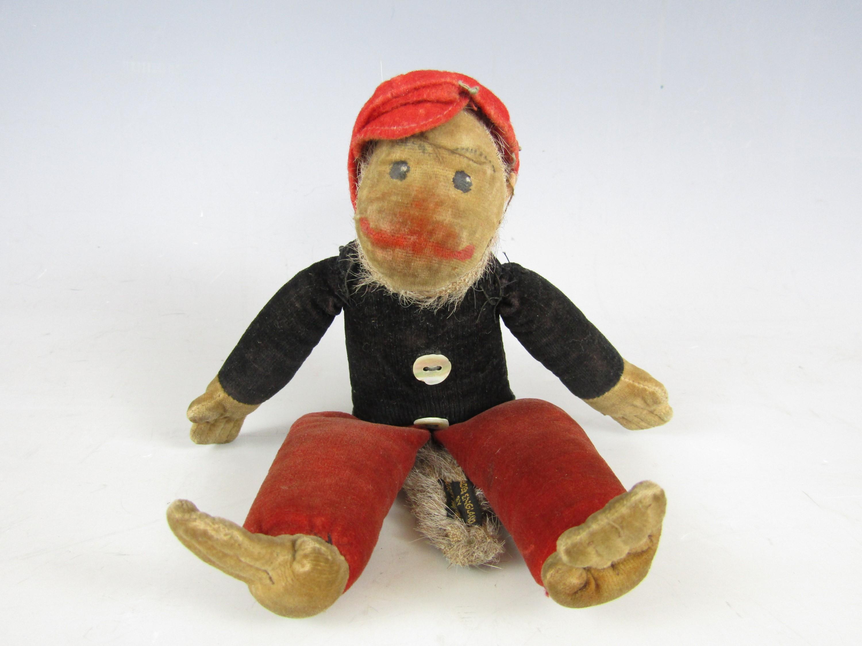Lot 38 - A late 1920s Norah Wellings plush toy monkey, 20 cm