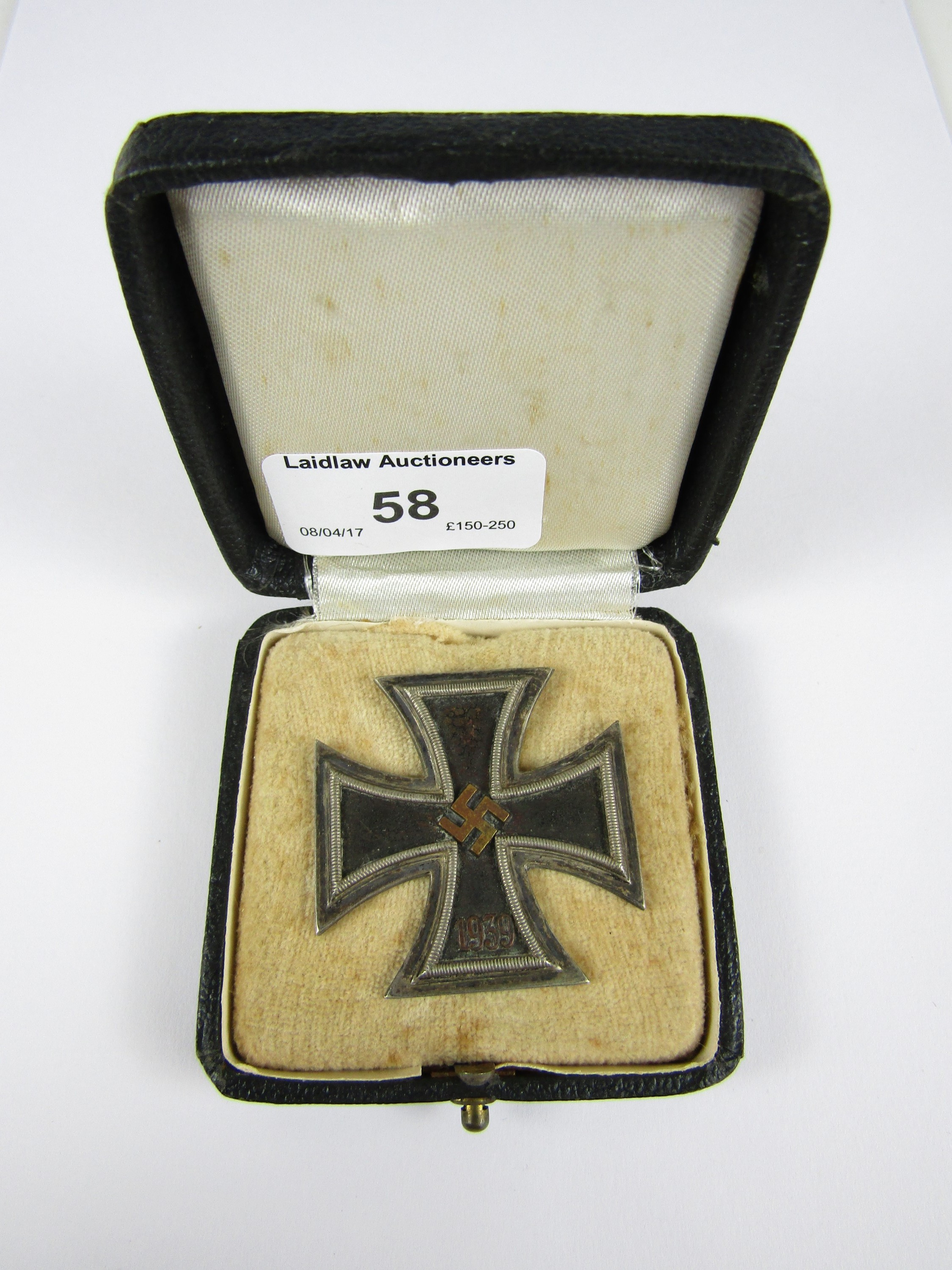 Lot 58 - A cased 1939 Iron Cross first class with brass core